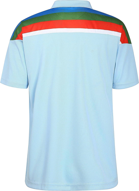 England 1992 World Cup Retro Cricket Shirt Supporter Polo Sky