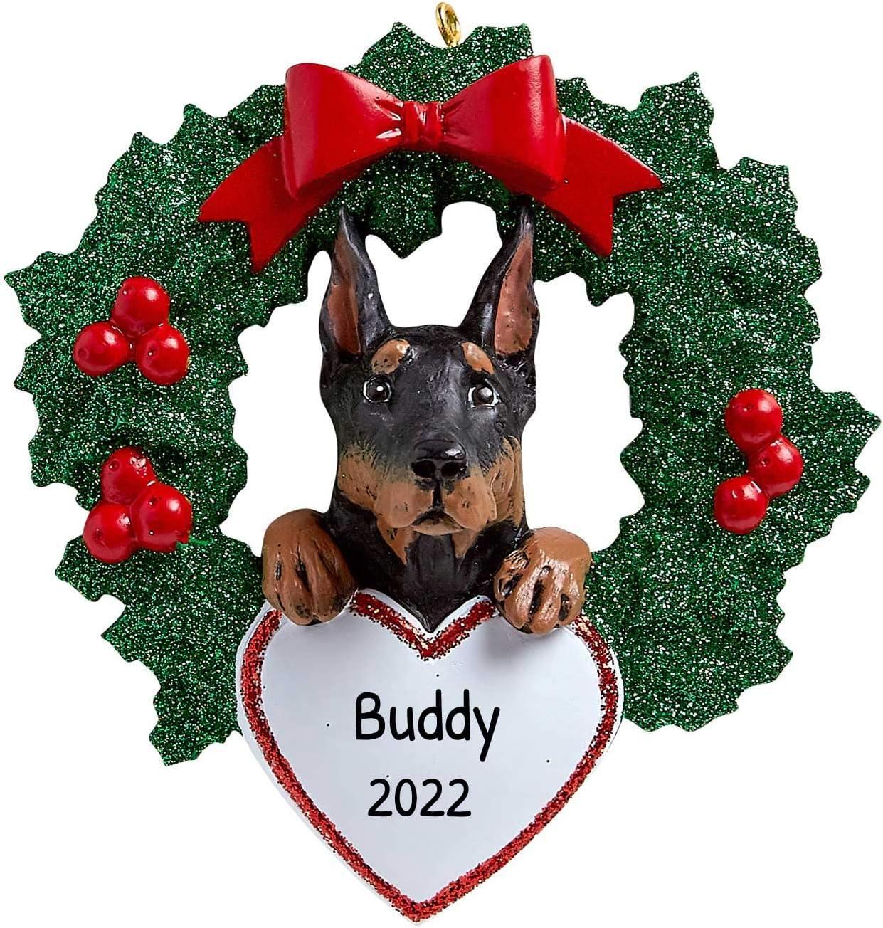 Pet Lover/'s Wreath Dog Lover/'s Wreath Personalized Min Pin Pet Wreath Miniature Pinscher Wreath Personalized Dog Wreath Min Pin Gift