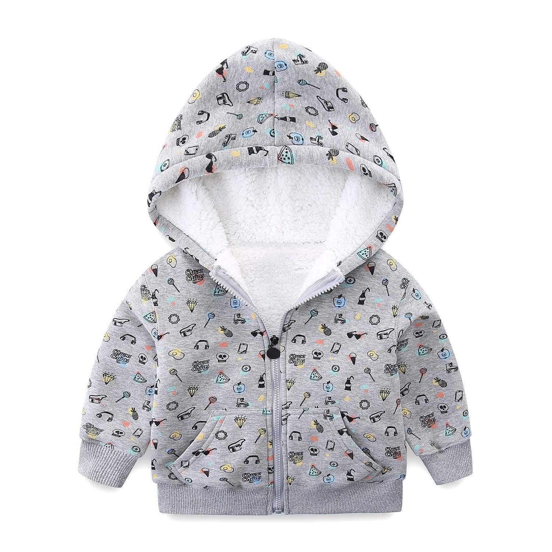 9c00e6330eb5 Amazon.com  Mud Kingdom Baby Girls Winter Hoodies Faux Fur Girls ...