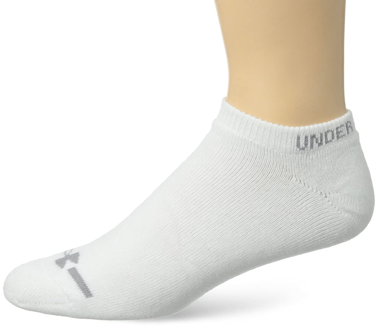 Under Armour Men's Charged Cotton No-Show Socks (Pack of 6) Under Armour Socks 1240879
