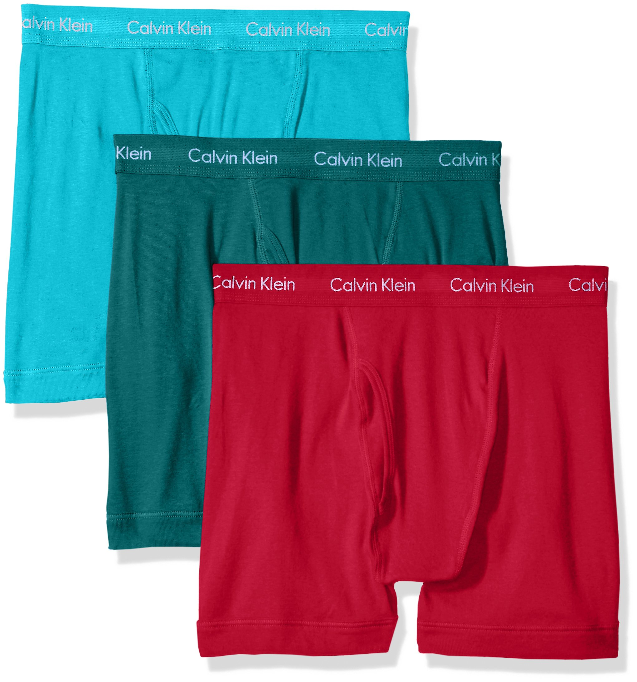 22a24edae443 Galleon - Calvin Klein Men's Underwear Cotton Classics Boxer Briefs - Large  - Dresden Blue/Sea Green/Amaranth (Pack Of 3)