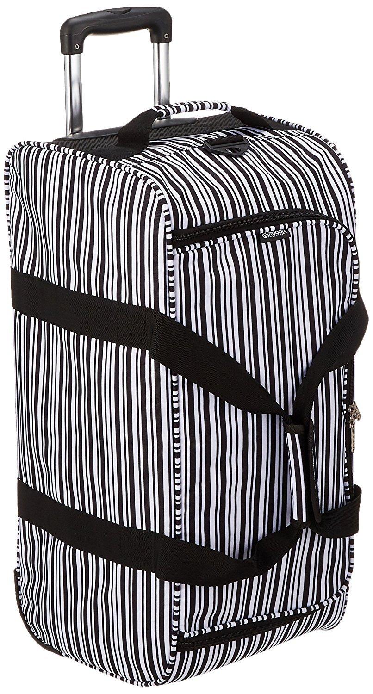 [アウトドアプロダクツ] OUTDOOR PRODUCTS キャリーバッグ スーツケース 機内持ち込み 5~6泊 ボストンバッグ ショルダーバッグ 斜めがけ 62L 62401 (91/BLACK STRIPE) B079M4CN79 91/BLACK STRIPE 91/BLACK STRIPE