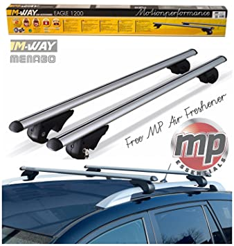 Mway Eagle Universal Aluminium Roof Bars 1.2m For Raised Roof Rails RB1040