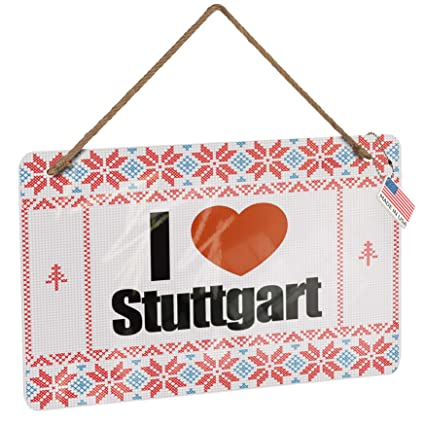 best cheap 1428c 6a67c Amazon.com: NEONBLOND Metal Sign I Love Stuttgart Germany ...
