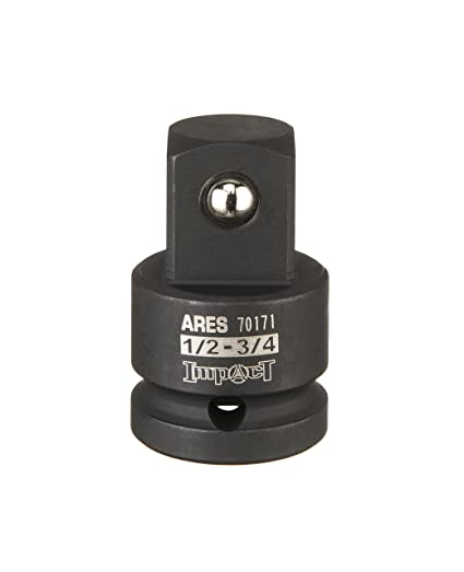 3//4-inch F to 1-inch M Impact Socket Adapter ARES 70173 Chrome-Molybdenum Steel Construction Exceeds ANSI Standards and Ensures Life Time Use