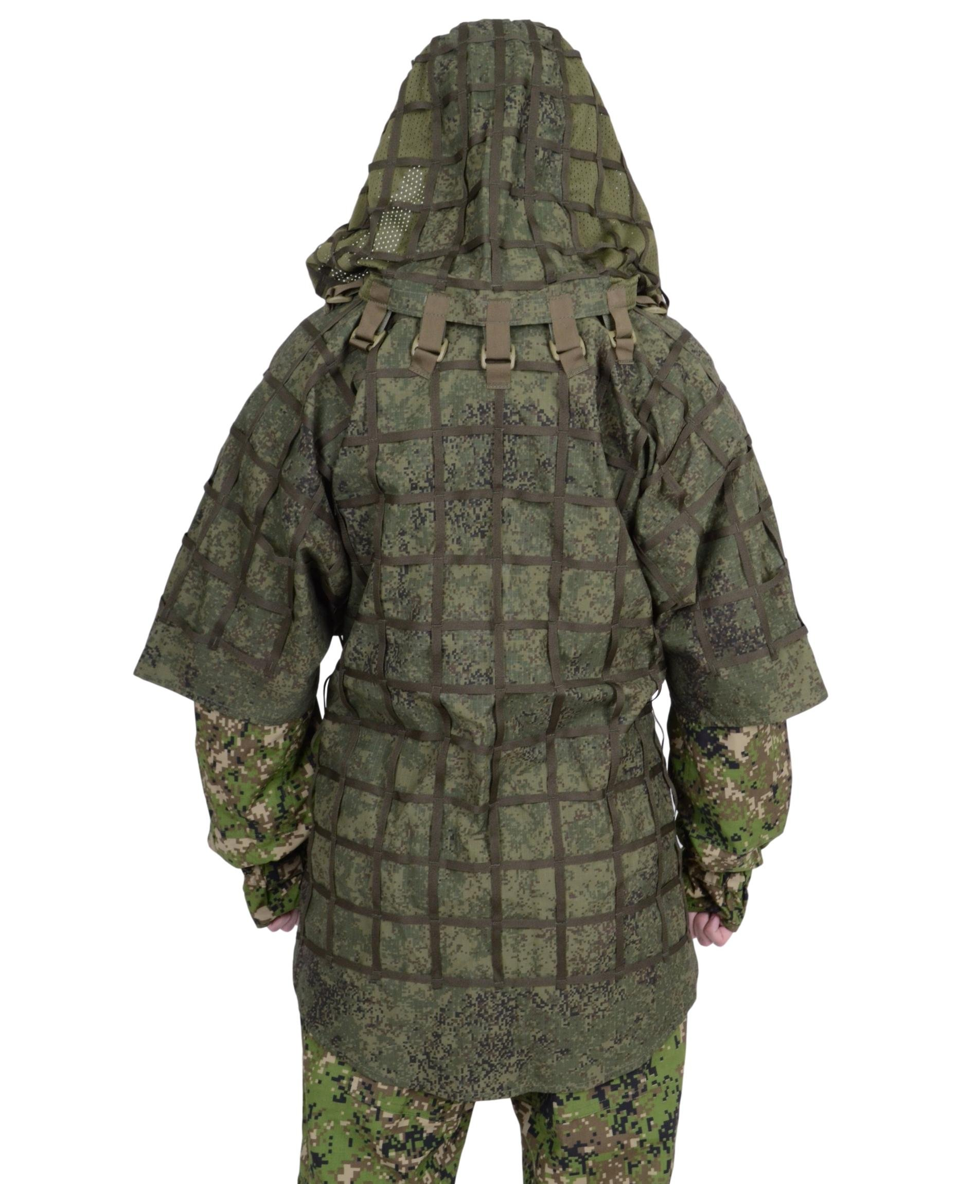 Ghillie Suit ''Ghost'' by SPOSN / SSO   Russian Sniper Coats / Viper Hoods (EMR Digital Flora)