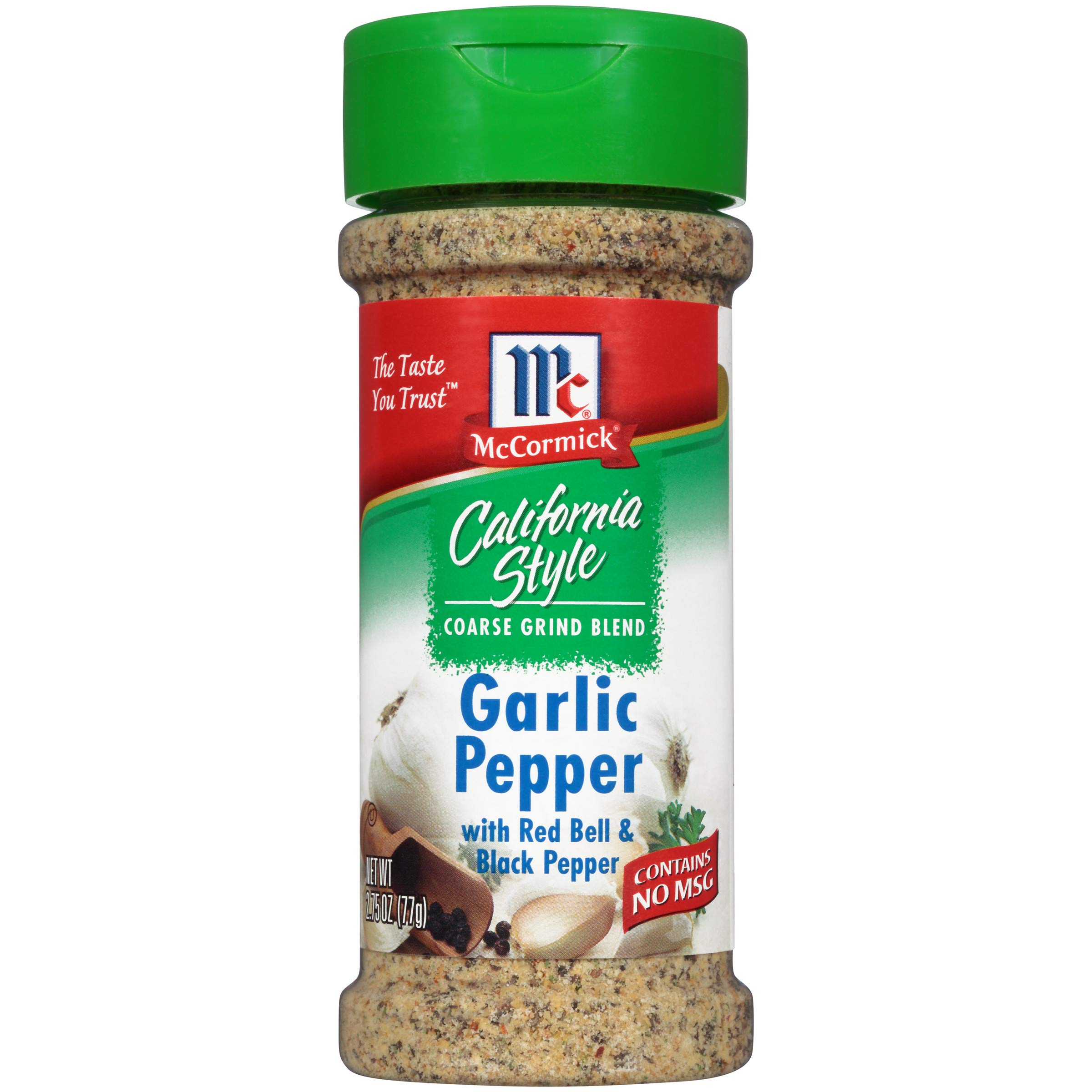 McCormick California Style Garlic Pepper with Red Bell & Black Pepper Coarse Grind Seasoning, 2.75 oz