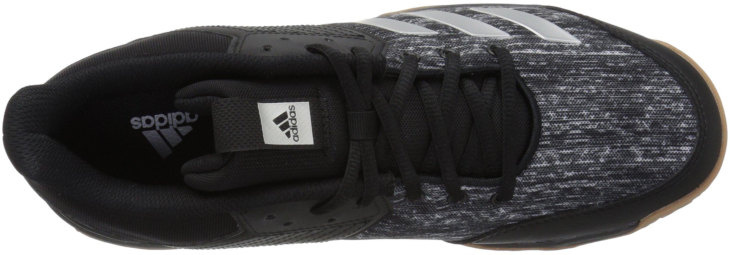 adidas Women's Ligra 6 Volleyball Shoe, Black/Silver Metallic/White, 7 M US by adidas (Image #7)