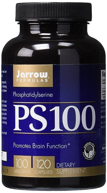 PS 100, fosfatidilserina, 100 mg, 120 cápsulas - Jarrow Formulas