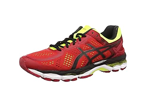 5b2206060cee closeout asics gel kayano 22 mens running shoes red red pepper black 137af  9fb00