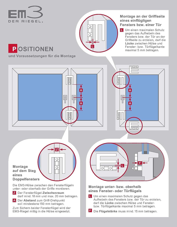 Top scheffinger EM3_weiss Fenstersicherung für Fenster oder Türen aus IO16