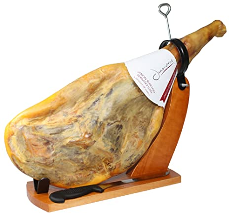 Serrano Ham Bone in from Spain 15-17 lb + Ham Stand + ...