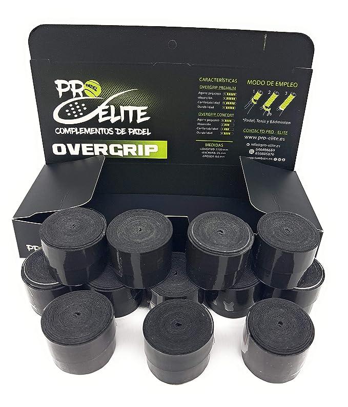 overgrips Pro Elite Premium Perforados Negros. Caja 10+2 unds ...