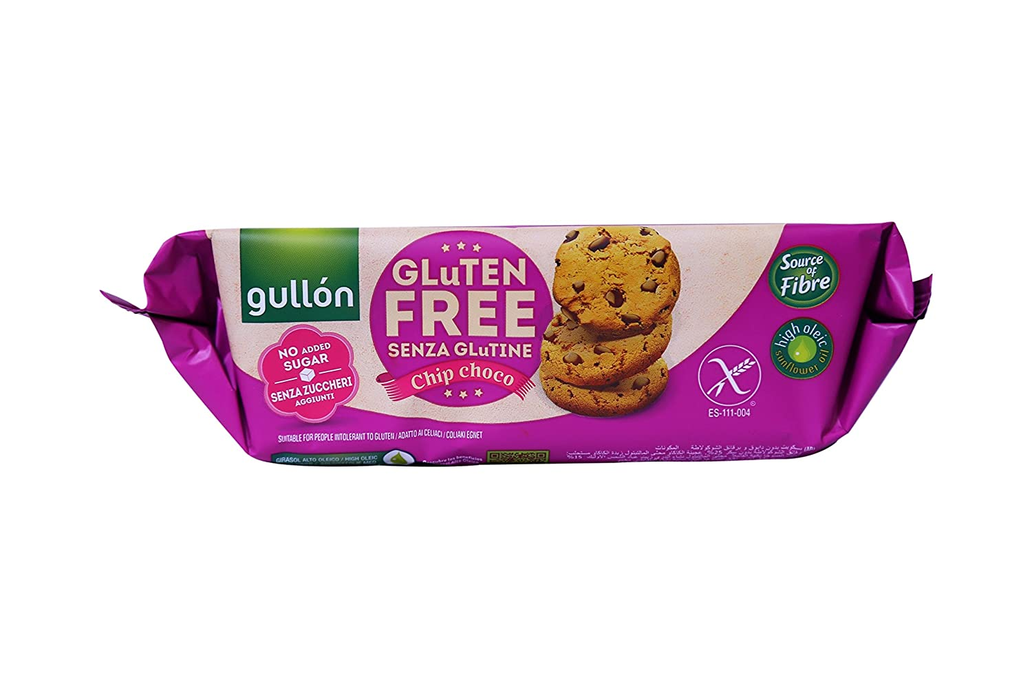 Gullon No Added Sugar And Gluten Free Choc Chip Cookies
