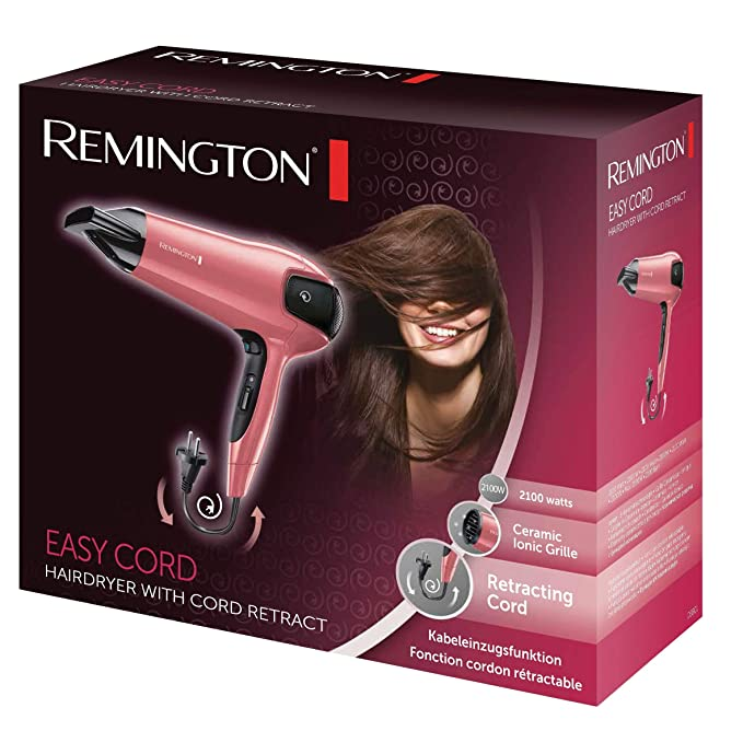 Remington D5801 Easy Cord - Secador, 2100 W, cable retráctil, concentrador: Amazon.es: Salud y cuidado personal