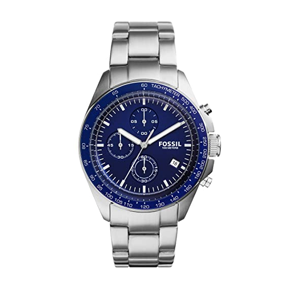 39dcbda14fb5 Fossil Sport 54 - Reloj análogico de cuarzo con correa de acero inoxidable para  hombre