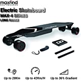 Maxfind Max-4 Electric Skateboard Electric Longboard with Remote Control,IP65 Waterproof,Removable Battery,25 MPH Top Speed, 15-Mile Scope,1200W Double Motor