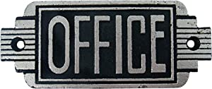 Design Toscano Streamlined Art Deco Office Door Sign, 6.5 Inch, Two Tone Black & Silver