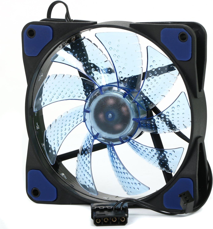 TRIXES Ventilador LED Azul 120 mm de Ordenador