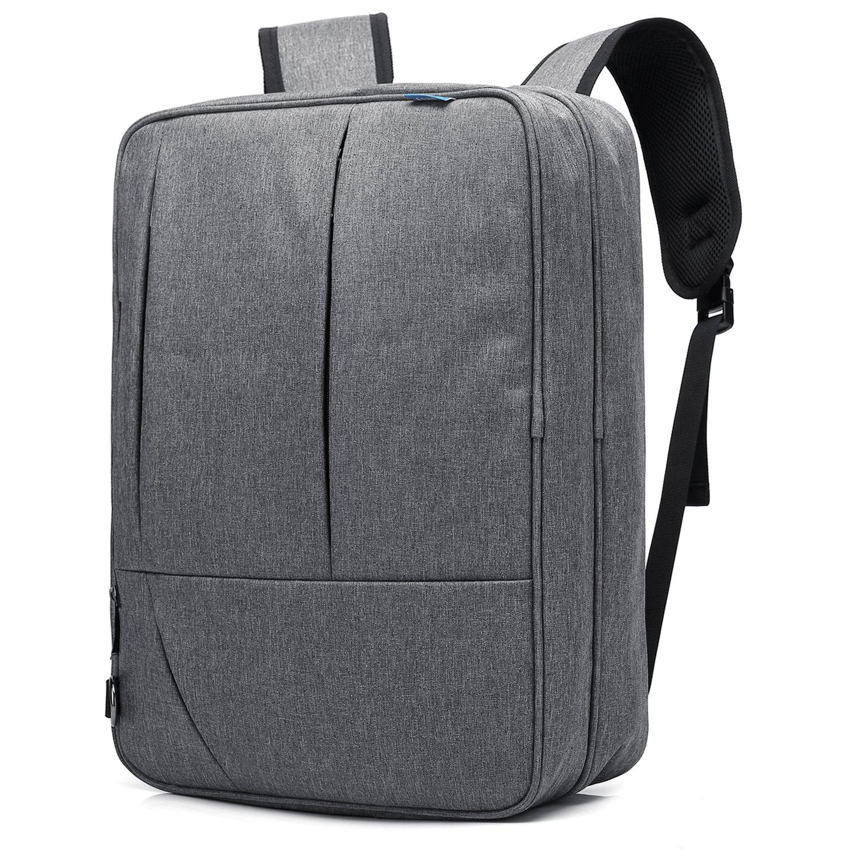CoolBELL Convertible Messenger Bag Backpack Shoulder Bag Laptop Case Handbag Business Briefcase Multi-Functional Travel Rucksack Fits 17.3 inch Laptop for Men/Women (Grey)