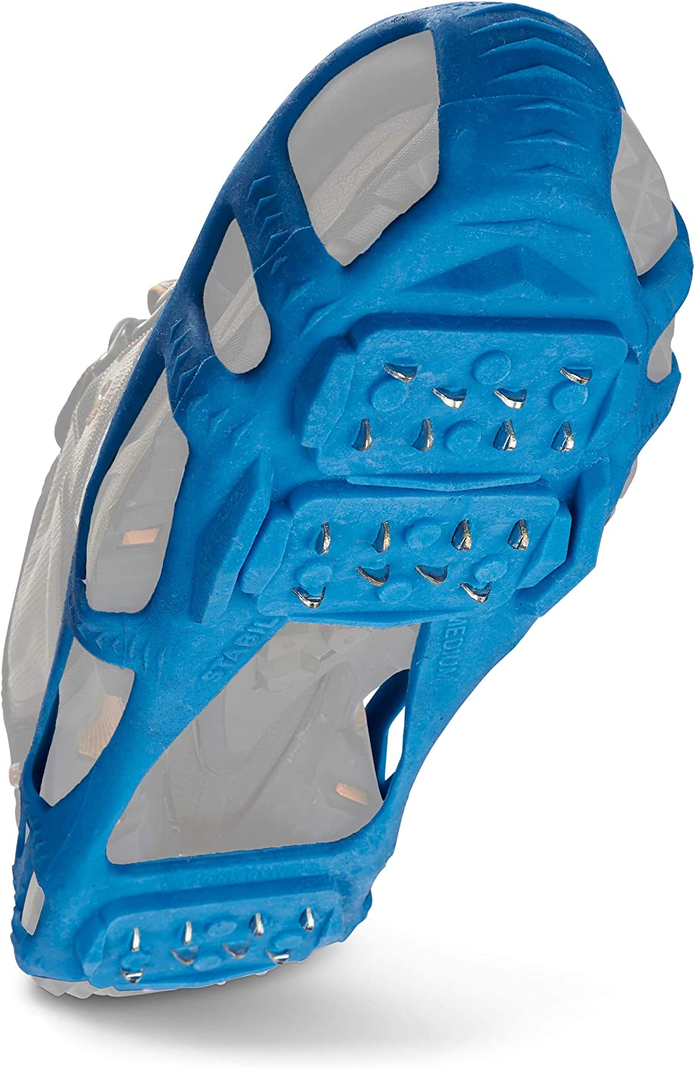 STABILicers Walk Traction Cleat for Walking on Snow and Ice, Blue, Medium (1 Pair)