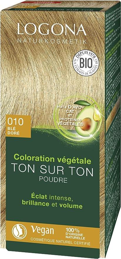 Logona Colorante vegetal rubio dorado 010 100gr. 1 Unidad 100 g