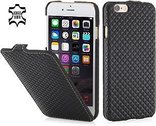 """StilGut UltraSlim, housse en cuir pour Apple iPhone 6s (4.7""""), en noir chester"""