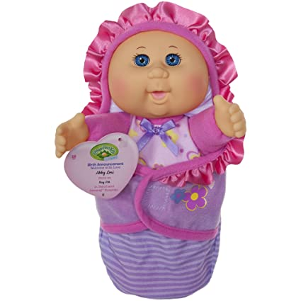 8e18a1d1c6c5c Amazon.com: Cabbage Patch Kids Official, Newborn Baby Doll Girl - Comes  with Swaddle Blanket and Unique Adoption Birth Announcement: Toys & Games