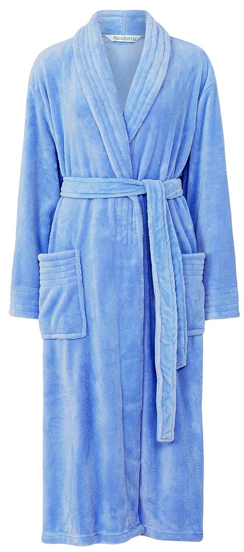 Slenderella Ladies 46 Luxury 260GSM Soft Fleece Plain Shawl Collared Bath Robe Dressing Gown House Coat Size Small Medium Large XL & XXL