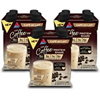 Atkins Iced Coffee Café au Lait Protein Shake. With Coffee and High-Quality Protein. Keto-Friendly and Gluten Free. (12…