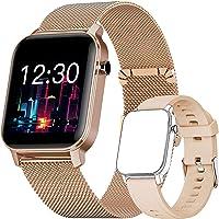 Smartwatch, Fitness Tracker Horloge met Vrij te Kiezen Achtergrondafbeelding, Waterdicht Smartwatch met Hartslagmeter…