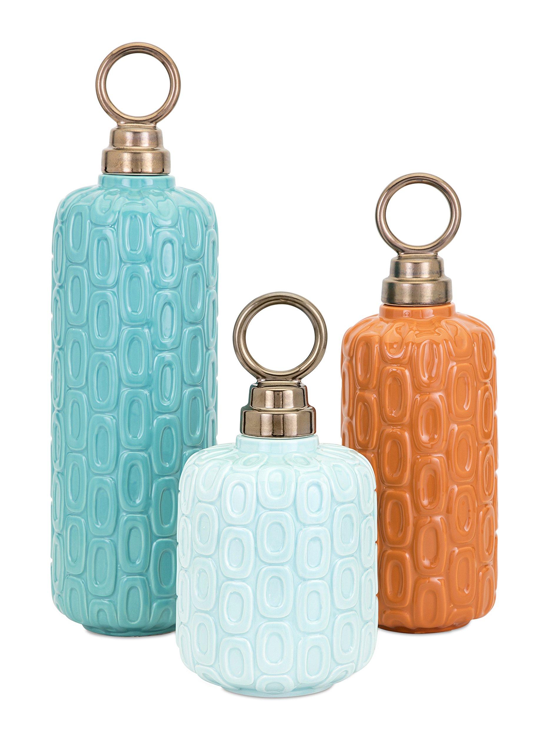 Imax Leander Ceramic Jars - Set of Three