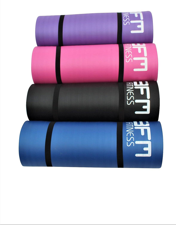 Colchoneta para yoga o pilates grande y gruesa, de 15 mm x 1 ...