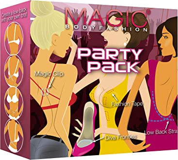 Magic BodyFashion Womens Bra Solutions Magic Party Pack Clear One Size