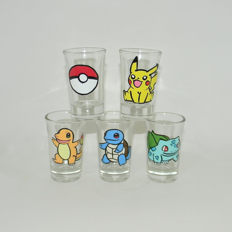 Pokemon shot glass set of 5