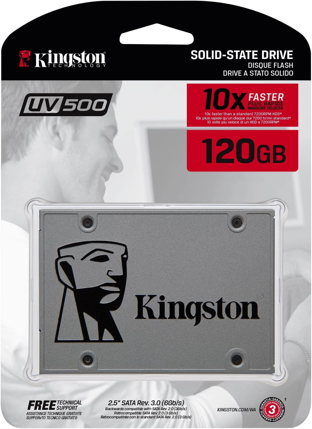 Kingston SUV500/120G - Unidad de Disco Duro SSD, 120 GB, SATA3 ...