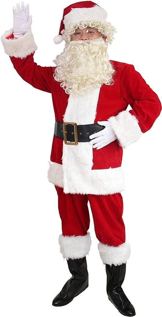 Amazon.com: adomi - traje de Santa. 10 piezas Disfraz de ...