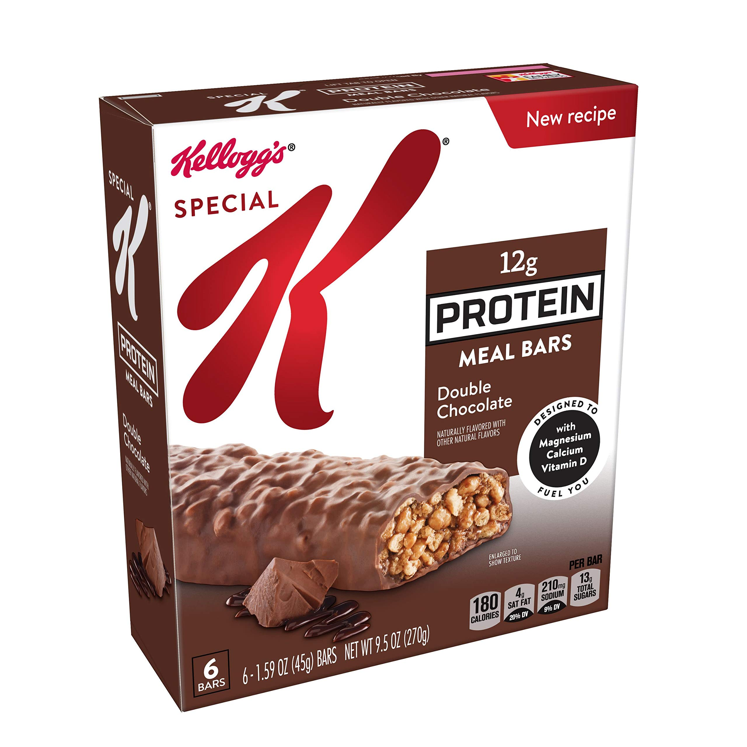 Special K Protein Meal Bars, Double Chocolate, 6 Count, Pack of 3 by Special K