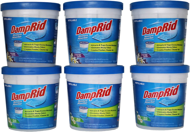 DAMPRID Refillable 10.5 OZ 6-Pack Moisture Absorber, 6 Pack, Blue, 6 Count