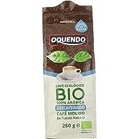 OQUENDO - Café Bio molido Descafeinado (Ecológico) - 4 de 250 gr. (Total 1000 gr.)
