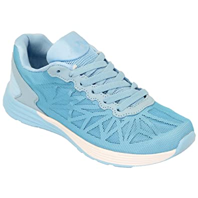ladies trainers womens shoes lace up mesh running gym pumps Belide