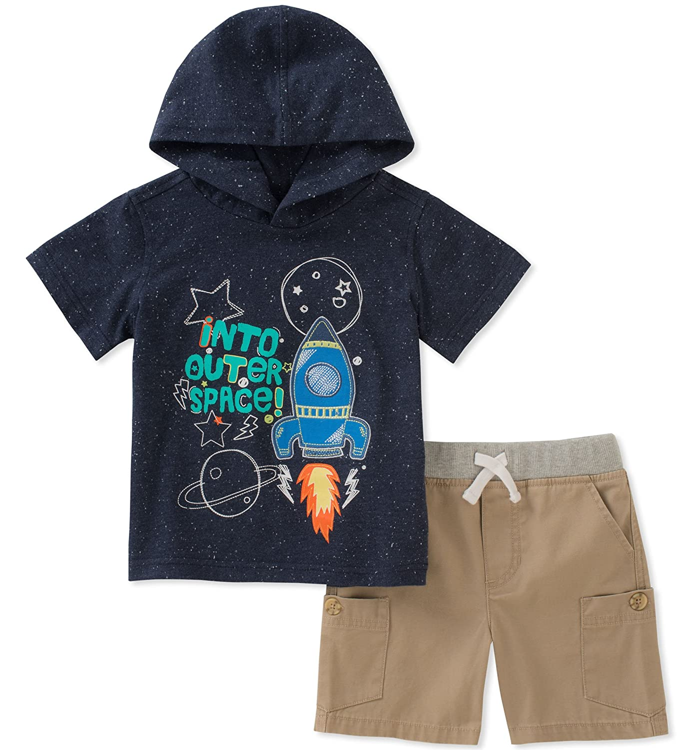 Kids Headquarters Boys' 2 Pieces Hooded Shorts Set P000512965