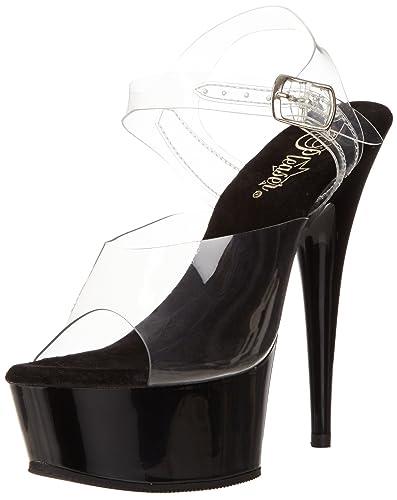 Chaussures à bout ouvert Pleaser Delight transparentes femme MpKo6