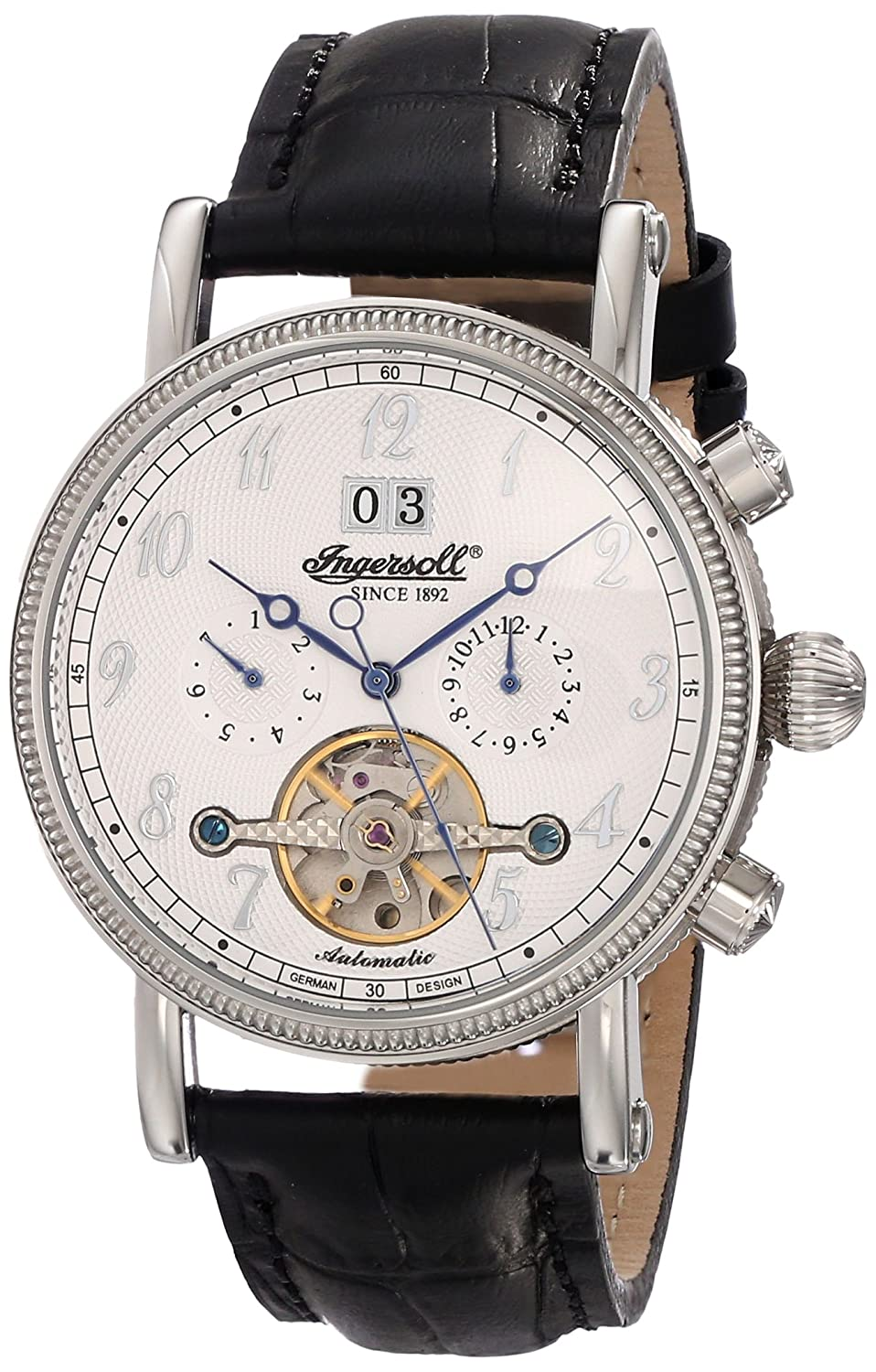 Amazon.com: Ingersoll Men's IN1800WH Richmond Automatic White Dial Watch:  Watches