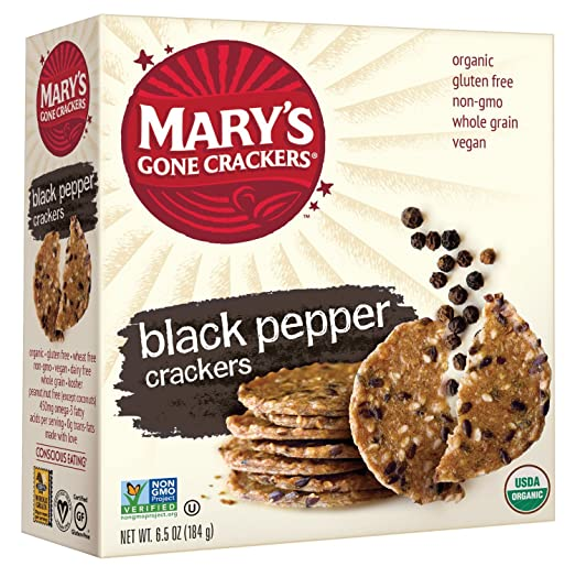 Mary's Gone Crackers Black Pepper, 6.5 Ounce