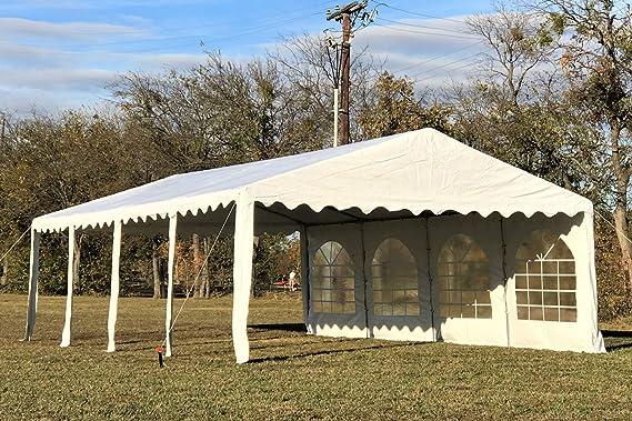 26 x16 PVC – Tienda de Heavy Duty Party boda Cenador de tienda de campaña Toldo CarPort – por Delta Toldos: Amazon.es: Jardín