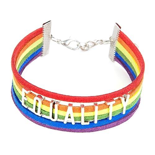 molto carino 4d61c 12b4d ISHOW LGBT - bracciale arcobaleno multicolore