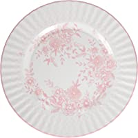 Talking Tables Party Porcelain Rose Large 11 inch Floral Disposable Plates, 8 Count, for a Tea Party or Get Together…