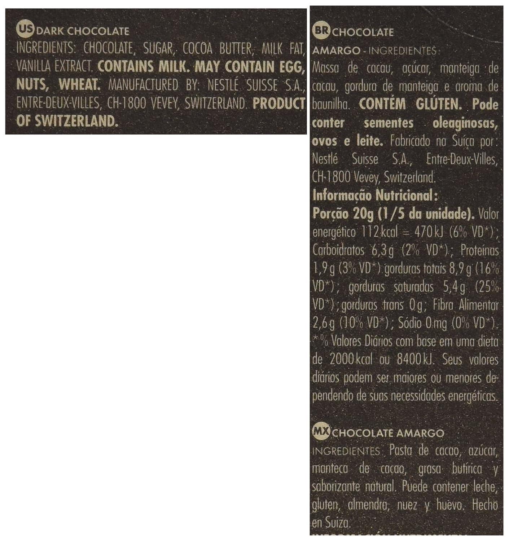 Amazon.com : CAILLER LEcorce Dark Chocolate Cocoa Bar, 3.5 Ounce : Grocery & Gourmet Food