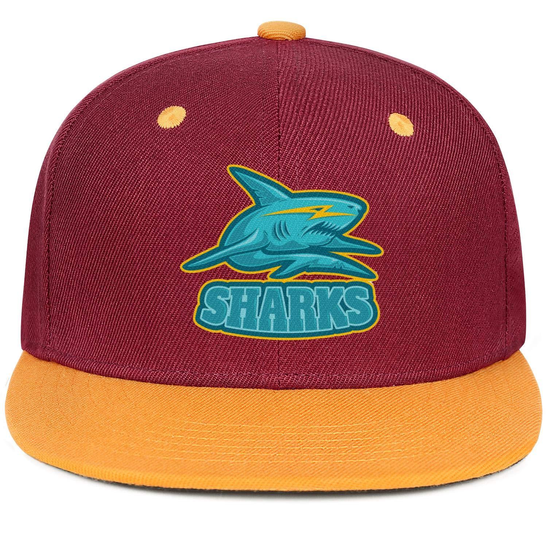 Blue Shark Light Lightning Men Women Dad Hat Adjustable Snapback Flatbrim Caps
